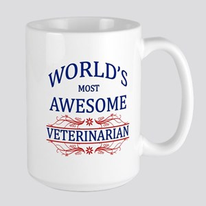 World's Most Awesome Veterinarian Large Mug