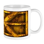 Rusty Shipping Container - yellow Mug