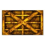 Rusty Shipping Container - yellow Sticker
