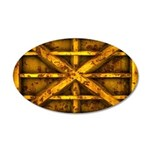Rusty Shipping Container - yellow Wall Decal