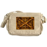 Rusty Shipping Container - yellow Messenger Bag