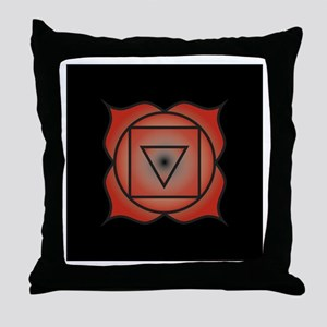 Muladhara Chakra Throw Pillow