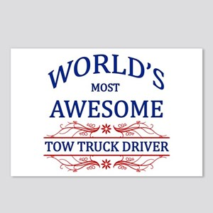 World's Most Awesome Tow Truck Driver Postcards (P