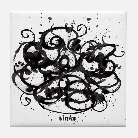Ink blot 4 Tile Coaster