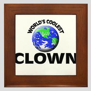 World's Coolest Clown Framed Tile