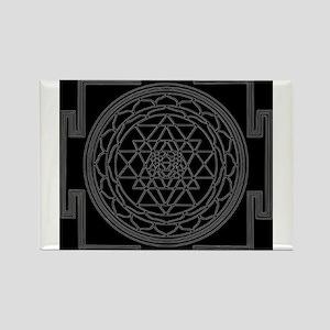 Sri Yantra Rectangle Magnet