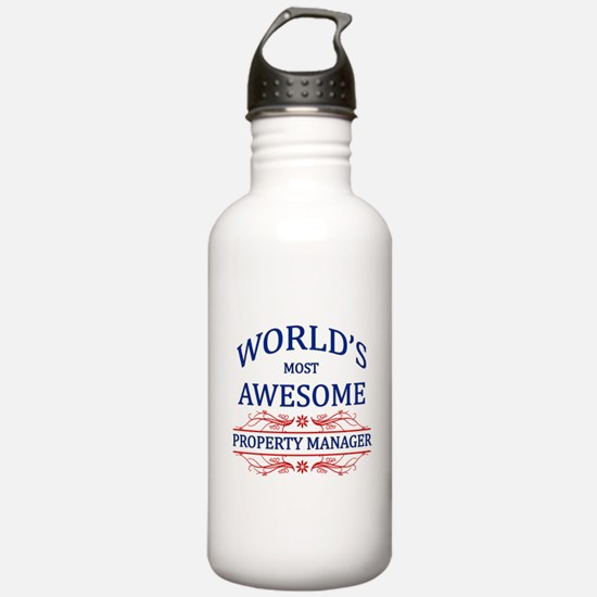 World's Most Awesome Property Manager Water Bottle