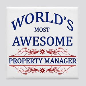 World's Most Awesome Property Manager Tile Coaster