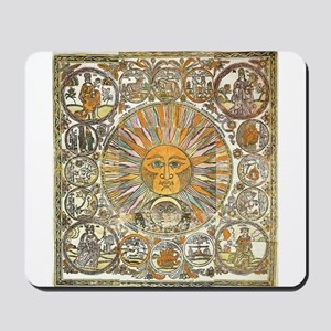 Sun with Faces Mousepad