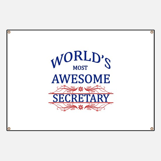 World's Most Awesome Secretary Banner