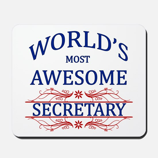 World's Most Awesome Secretary Mousepad