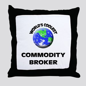 World's Coolest Commodity Broker Throw Pillow