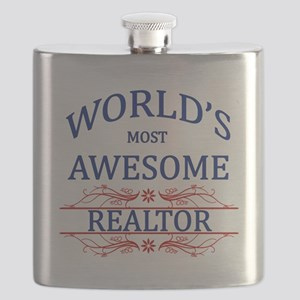 World's Most Awesome Realtor Flask