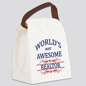 World's Most Awesome Realtor Canvas Lunch Bag