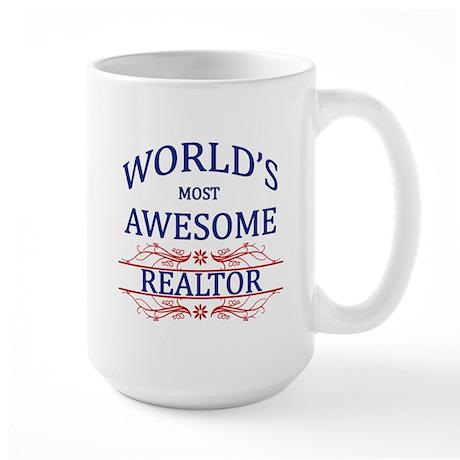 World's Most Awesome Realtor Large Mug