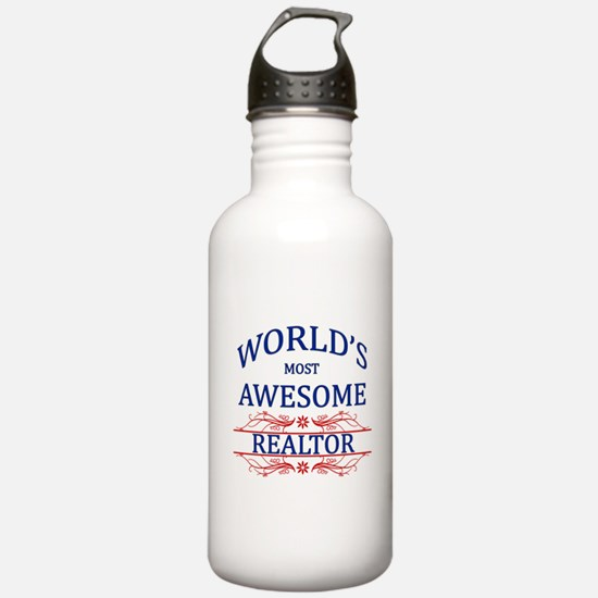 World's Most Awesome Realtor Water Bottle