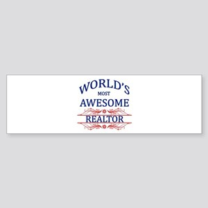 World's Most Awesome Realtor Sticker (Bumper)