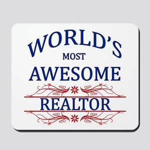 World's Most Awesome Realtor Mousepad