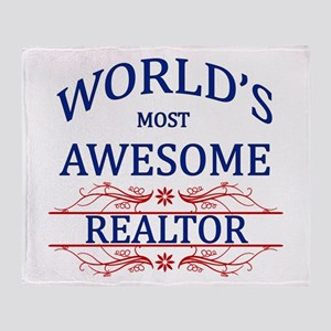 World's Most Awesome Realtor Throw Blanket