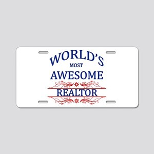 World's Most Awesome Realtor Aluminum License Plat