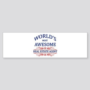 World's Most Awesome Real Estate Agent Sticker (Bu