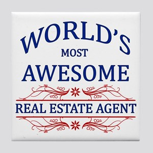 World's Most Awesome Real Estate Agent Tile Coaste