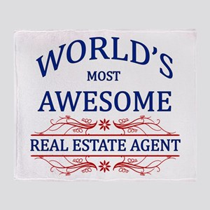 World's Most Awesome Real Estate Agent Throw Blank