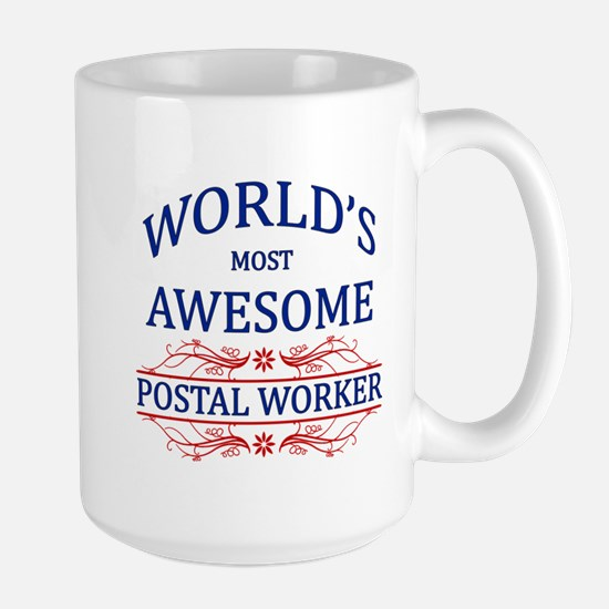 World's Most Awesome Postal Worker Large Mug