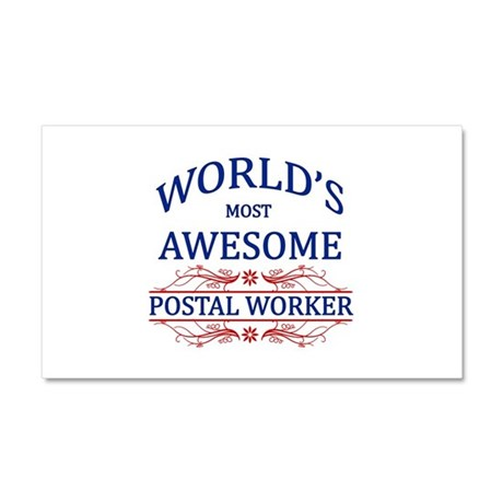 World's Most Awesome Postal Worker Car Magnet 20 x