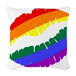 Rainbow Lips Woven Throw Pillow