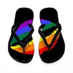 Rainbow Lips Flip Flops