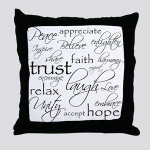 POSITIVE WORDS - Throw Pillow