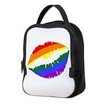 Rainbow Lips Neoprene Lunch Bag