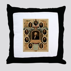 Masonic Heroes Throw Pillow