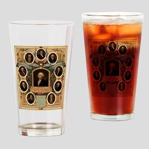 Masonic Heroes Drinking Glass