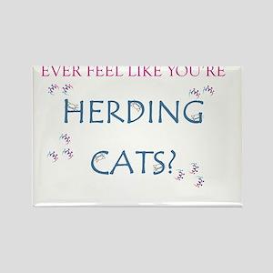 Herding Cats Rectangle Magnet