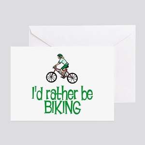 I'd rather be biking Greeting Cards (Pk of 10)
