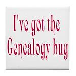 Genealogy Tile Coaster