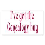 Genealogy Rectangle Sticker