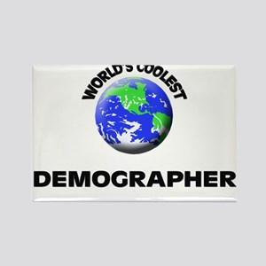 World's Coolest Demographer Rectangle Magnet