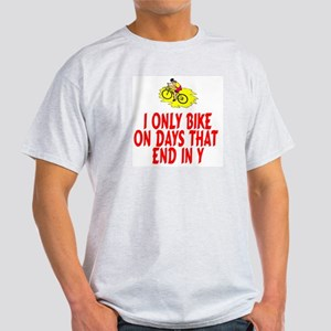 BikeChick Days Ash Grey T-Shirt