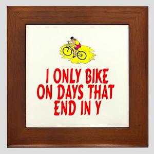 BikeChick Days Framed Tile