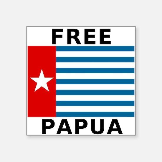 Free Papua Flag Sticker
