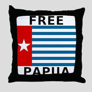 Free Papua Flag Throw Pillow