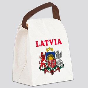 Latvia Coat Of Arms Designs Canvas Lunch Bag