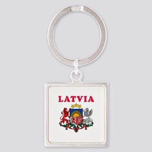 Latvia Coat Of Arms Designs Square Keychain