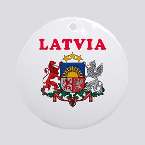 Latvia Coat Of Arms Designs Ornament (Round)