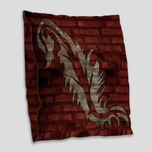 Square Canvas Pillow Brick Wall Art Burlap Throw P