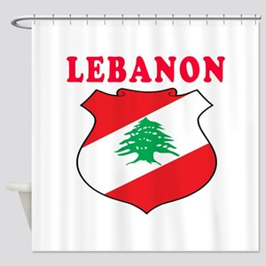 Lebanon Coat Of Arms Designs Shower Curtain