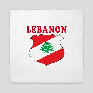 Lebanon Coat Of Arms Designs Queen Duvet